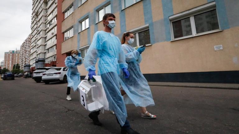 Починалите от коронавирус в Русия надхвърлиха 10 000, съобщават от