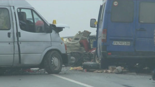 Жена пострада при верижна катастрофа в София