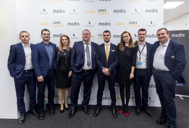 На откриването на офиса в Пловдив