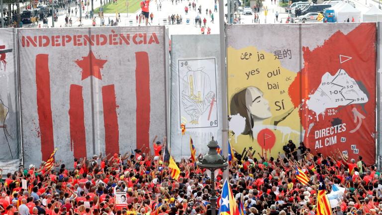 Около 1 милион каталунци се събраха в Барселона, за да