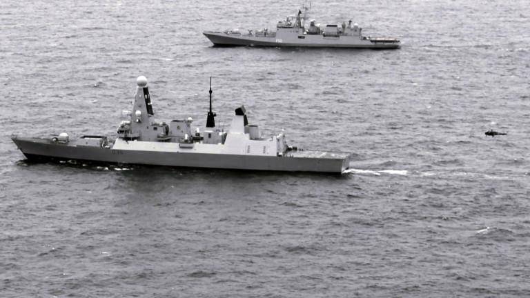 Кораб на британският кралски флоте помогнал за залавянето на наркотици