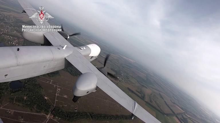 Русия показа видео от първия полет на боен дрон с далечен обсег