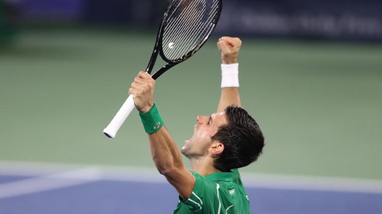 Четирикратният шампион и водач в световната ранглиста Новак Джокович (Сърбия)