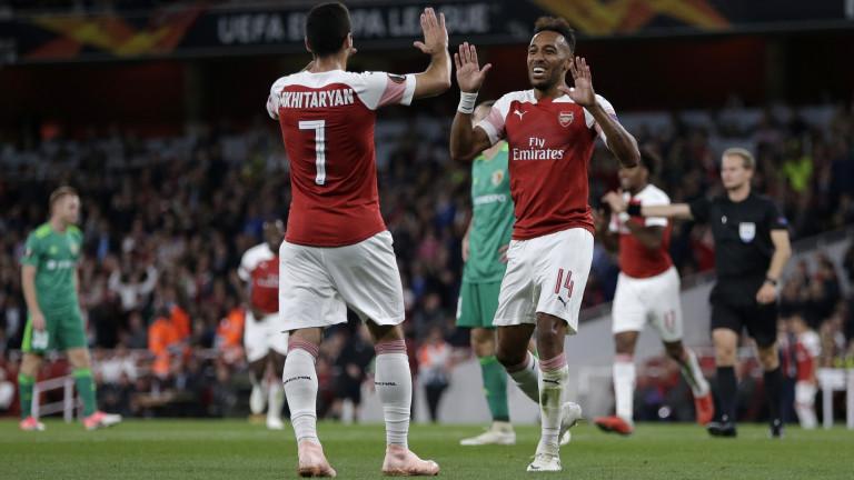Арсенал записа разгромна победа с 4:1 над Ворскла в първия