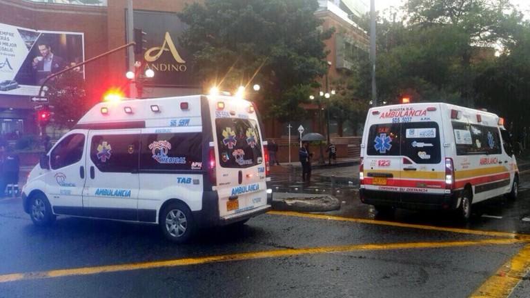 Земетресение разлюля Колумбия