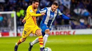 """Барселона се издъни срещу най-слабия в Ла Лига, късен гол попари """"каталунците"""" в градско дерби"""