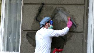 Ученици с акция по почистване на графити
