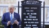Снимката на Тръмп пред църквата е била идея на Иванка Тръмп