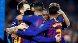 """Барса се позабавлява на """"Камп Ноу""""! Каталунците разбиха Лион с 5:1 и се класираха на 1/4-финал в Шампионска лига!"""
