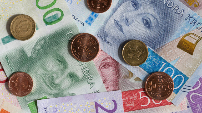 Швеция е държавата, в която парите в брой от доста