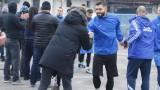 Божидар Митрев на линия за двубоя с ЦСКА
