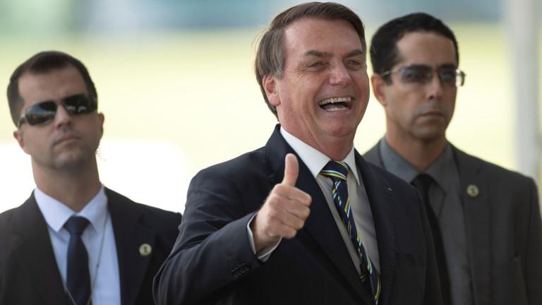 Президентът на Бразилия Жаир Болсонаро постави под съмнение смъртността в