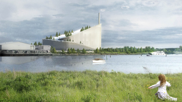 Струващата 660 милиона долара сграда Amager Bakke е сред една
