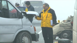 Опесъчиха пътя в района на катастрофата край Пазарджик