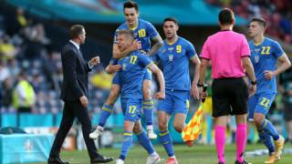 Украйна е напред след гол в добавеното време на продълженията