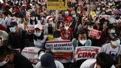 500 задържани при протестите в Мианмар