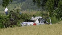 Лека кола отнесе патрулка край Враца