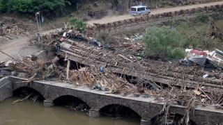 Наводненията в Германия са причинили щети за €1,3 милиарда на жп инфраструктурата