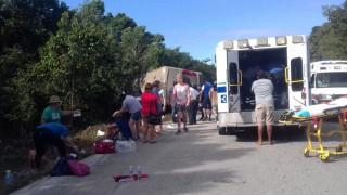 Автобус с чуждестранни туристи се преобърна в Мексико
