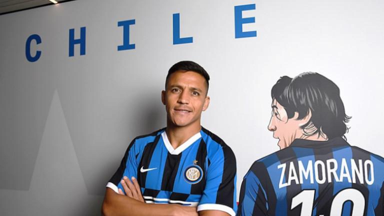 Алексис Санчес се върна в Милано с контузия