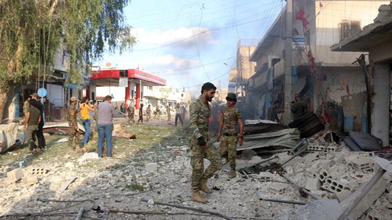 13 души загинаха от кола бомба на пазар в Тел Абяд