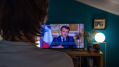Рекорд: 35 милиона французи гледали обръщението на Макрон към нацията