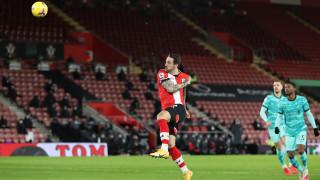 Саутхямптън - Ливърпул 1:0, гол на Дани Ингс