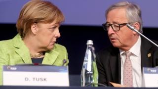 Меркел бясна на Юнкер заради странното му поведение по Брекзит