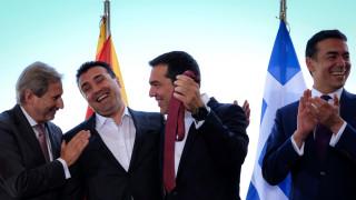 В Европейския парламент номинират Ципрас и Заев за Нобелова награда за мир