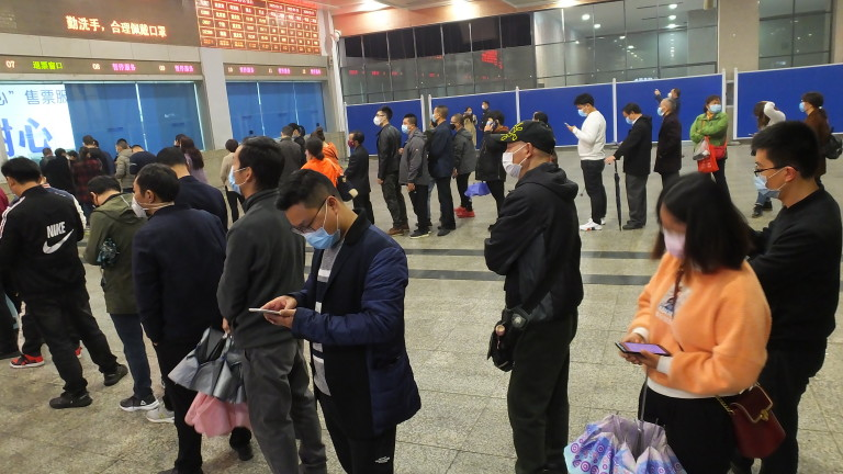 В Китай няма нови случаи на коронавирус освен внесените от