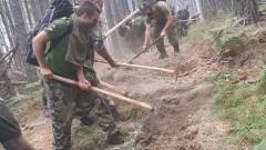 Пореден ден военни помагат в гасенето на пожара над село Югово