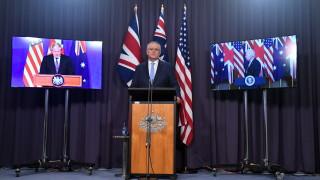Австралия отхвърли гневната реакция на Китай на алианса ѝ със САЩ и Великобритания
