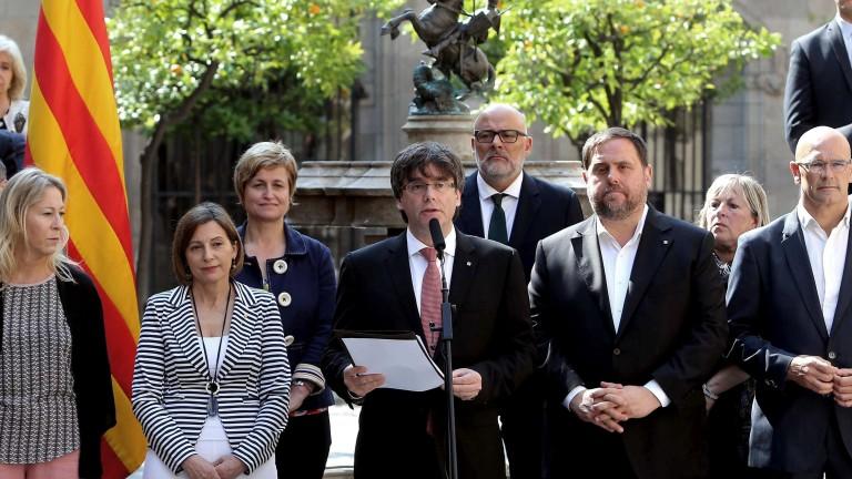 Спада подкрепата за независимостта на Каталуния