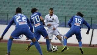 Славия - Левски 0:3 (Развой на срещата по минути)