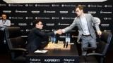 Магнус Карлсен и Фабиано Каруана не се победиха и в деветата партия