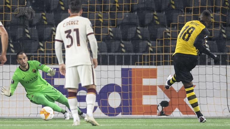 Швейцарският Йънг Бойс поведе с 1:0 срещу италианския Рома. Мачът