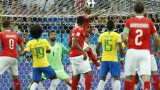 Бразилия - Швейцария 1:1 (Развой на срещата по минути)