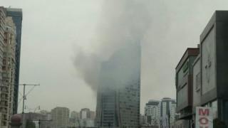 "Пожар в ""Тръмп тауър"" в Баку"