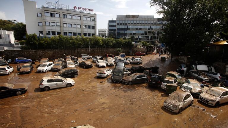 Западна Гърция засегната от наводнения, информира