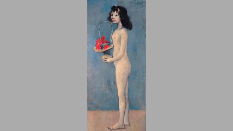 """Перлата в колекцията - """"Момиче с кошница цветя"""" на Пабло Пикасо"""