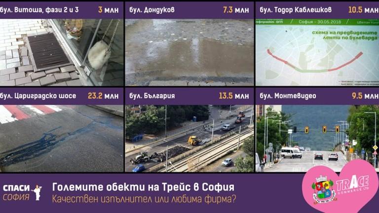 Спаси София питат Фандъкова за знакови ремонти на Трейс груп  в столицата