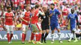 Арсенал - Челси 2:1 (Развой на срещата по минути)