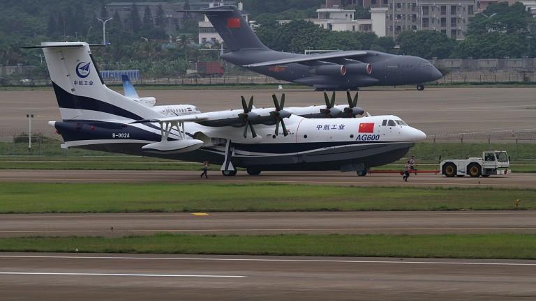 Китай пуска най-големия самолет амфибия през 2022-а