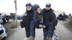 Сблъсъци между израелската полиция и заселници на Западния бряг