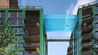 Въздушен басейн свързва сгради в Лондон