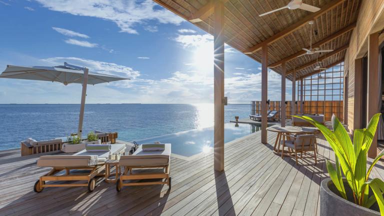 Миниатюрен курорт в островната държава Малдиви е най-луксозното място за