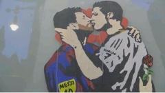 Скандален графит разбуни духовете в Барселона (ВИДЕО)