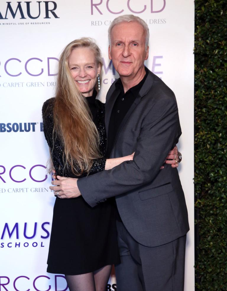 Джеймс Камерън и съпругата му Сузи