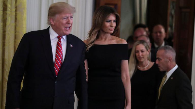 Как Доналд Тръмп се пошегува с Мелания