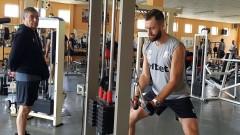 Националите по волейбол тренират във фитнеса в Пловдив